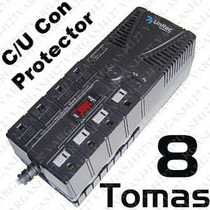 Regulador De Voltaje 1200va 8 Tomas Protegidas Estabilizador