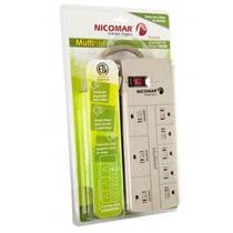 Supresor De Picos Multinet 8 Tomas Multitoma Seguridad Pc