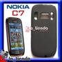 Forro Nokia C7 Negro Gel Tpu Hidro Funda Manguera Silicona