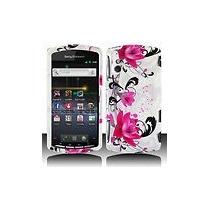 Estuche Cute Blue Floral Para Sony Ericsson R800/xperia Play