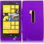 Estuche Purpura De Silicona Para At&t Nokia Lumia 920