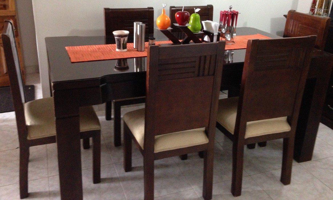 Muebles de roble usados en mercadolibre 20170715074347 for Comedor de madera