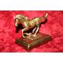 Antigua Escultura Caballo Mustang Animal Bronce