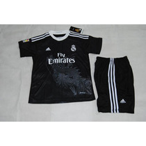 Uniforme Real Madrid Niño Dragon Negro James