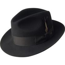 Gorra Bailey Gangster Lana Sombrero De Fieltro Gris Oscuro,