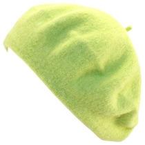 Gorra Lana Clásico Caliente Grueso Moda Francesa Beret Verd