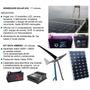 Kit Planta Solar Fotovoltaica Completa Panel Controlador