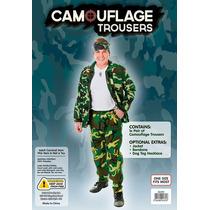 Disfraz Militar - Adultos Pantalones Para Hombre De Camo Del