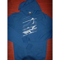 Hoddie Capota Fox Azul Grueso Talla S ,solo $ 79.990