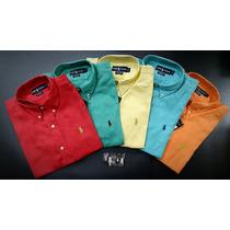 Camisas En Lino Ralph Lauren Varios Colores Disponibles