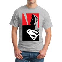 Camisetas Hombres Y Niños Estampadas Algodón Ref: Superman
