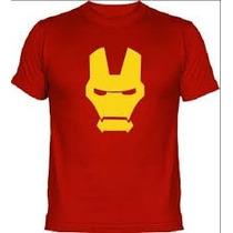 Camiseta De Iron Man Estampada En Vinilo Textil