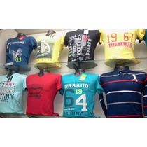 Camisetas En Algodon Licrado Cuello V