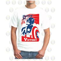 Camisetas Estampadas 100% Algodón Capitán America
