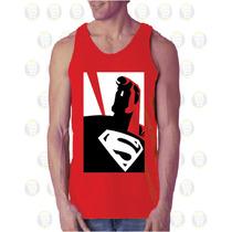 Camisilla Esqueleto De Hombre100% Algodon Diseño: Superman