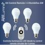 Kit Awlumina Control Remoto + 4 Bombillos Led 6 Watts