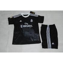 Uniforme Real Madrid Niño Dragon Negro