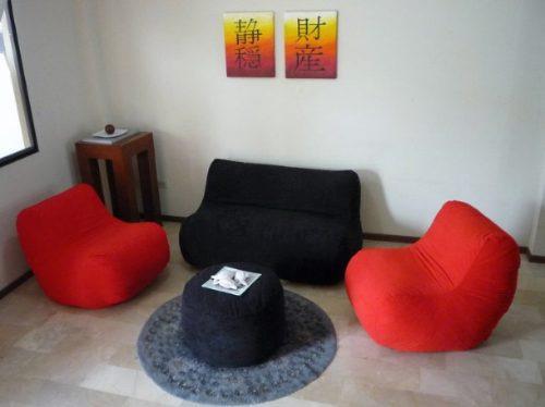 Juego De Sala Puff 2 Poltronas 1 Sofa Envios Todo El Pais  $ 169000  ~ Sala Pequena Com Sofa E Puff