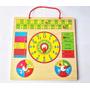 Calendario Y Reloj Didáctico Madera Para Niños Ref Mck7271
