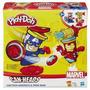 Plastilina Play Doh - Capitán América Ironman Marvel