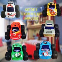 Carros Metàlicos De Impulso Kit De 6 Autos Coche Juguete