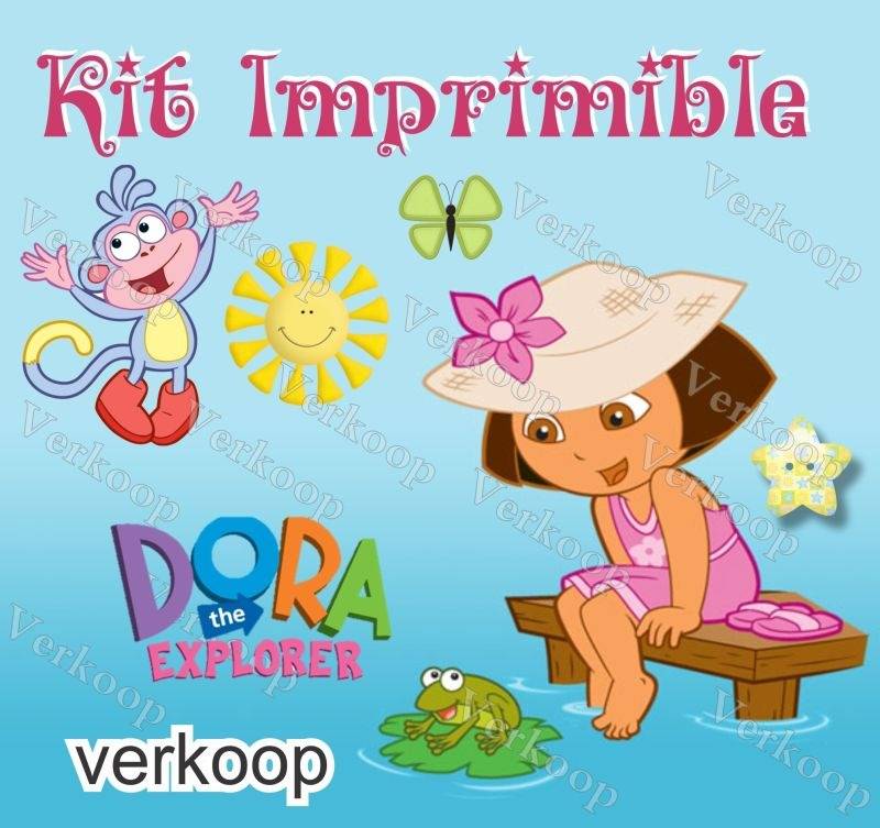 Kit Imprimible Dora La Exploradora Invitaciones Tarjetas ...