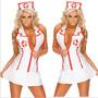 Sexy Disfraz De Enfermera Blanco Importado