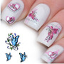 ¡ Kit De Tatto Uñas Stickers Al Agua Nail Art Butterfly !!