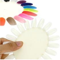 ¡ Exhibidor 20 Uñas Probador Mostrador Esmalte Nail Art !!