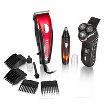 Combo Hair: Máquina De Afeitar + Peluquera + Depilador Nariz