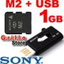 Tarjeta Memoria Micro Ms M2 Sony 1gb + Lector Usb Psp Go