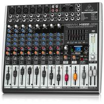 Behringer Xenyx Mixer 16 Canales X1222usb+envio Gratis