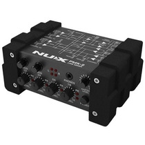 Mini Mezclador Nux Pmx-2 Con Control De Volumen Para Musica