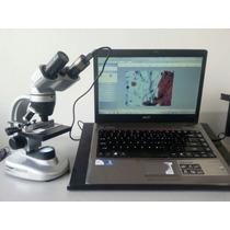 Microscopio Binocular Scientific Silver Con Cam Usb 0.3 M.p.