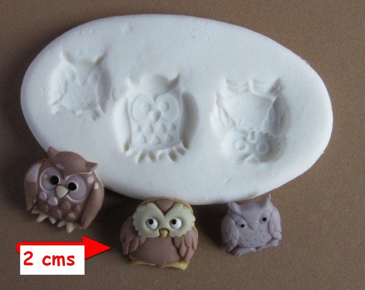 molde de silicona flexible buhos mq #17