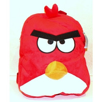 Morral Angry Birds Red Plush Blackpack 14