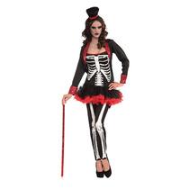 Skelton Disfraces - Señoras Mrs Huesos Jangles De Halloween