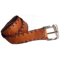 Cinturones En Fino Cuero Tejidos A Mano + Envio Gratis