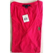 Blusa Polo Ralph Lauren Cuello V 100% Original Talla L