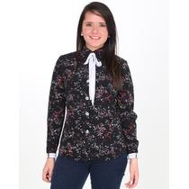 Blusas Dama Para Oficina Bicolor Linda Ropa Mujer