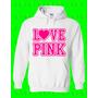 Buso Chompa Mujer Y Hombre Personalizados Diseño: Love Pink