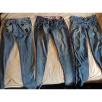 Combo 3 Jeans Para Niña Mujer Usados, Tallas 12, 14 Y 16
