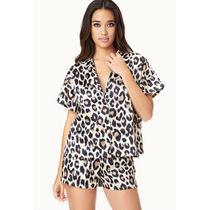 Pijama Forever 21 Rff16 Set Tigresa Talla M