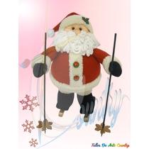 Papa Noel Esquiador Muñecos De Navidad