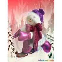 Muñecos Navideños Nieve Patica Levantada Grande
