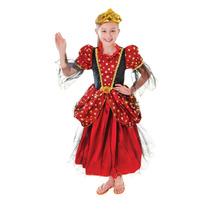 Princesa Costume - Medium Girls Reina Tudor Isabelino