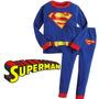 Pijama Niños Superman Tipo Disfraz + Obsequio