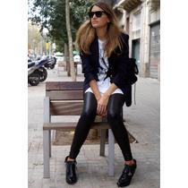 Leggins Tipo Cuero, Pantalones De Moda Mujer