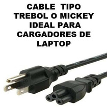 Cable D Corriente Mickey P. Cargador Laptop Hp Dell Acer Etc