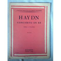 Haydn. Concierto En Re Para Dos Pianos. Montani. Ricordi.